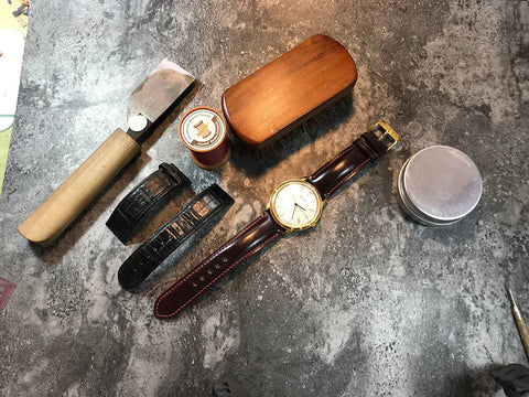 shell cordovan leather watch straps