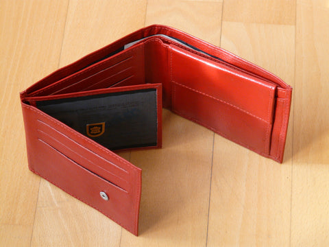 trifold leather men wallet