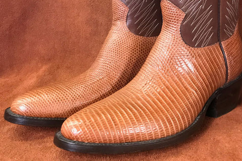 lizard leather boots