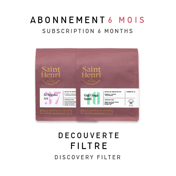 Abonnement 6 mois: Filtres | 6 months subscription: Filter coffees