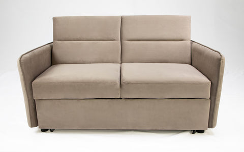 Gibson Modern and Versatile Velvet 2 Seater Guest Sofa Bed (Cream)