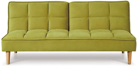 Manhattan Stylish and Versatile 3 Seater Velvet Sofa Bed (Lime)