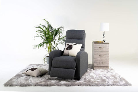 Reegan L Shaped Corner Sofa Bed in Grey, with Hidden Storage and Reversible Chaise. Matching Recliner Chair Also Available. (Recliner Chair)