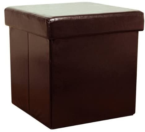Brown Faux Leather Storage Box