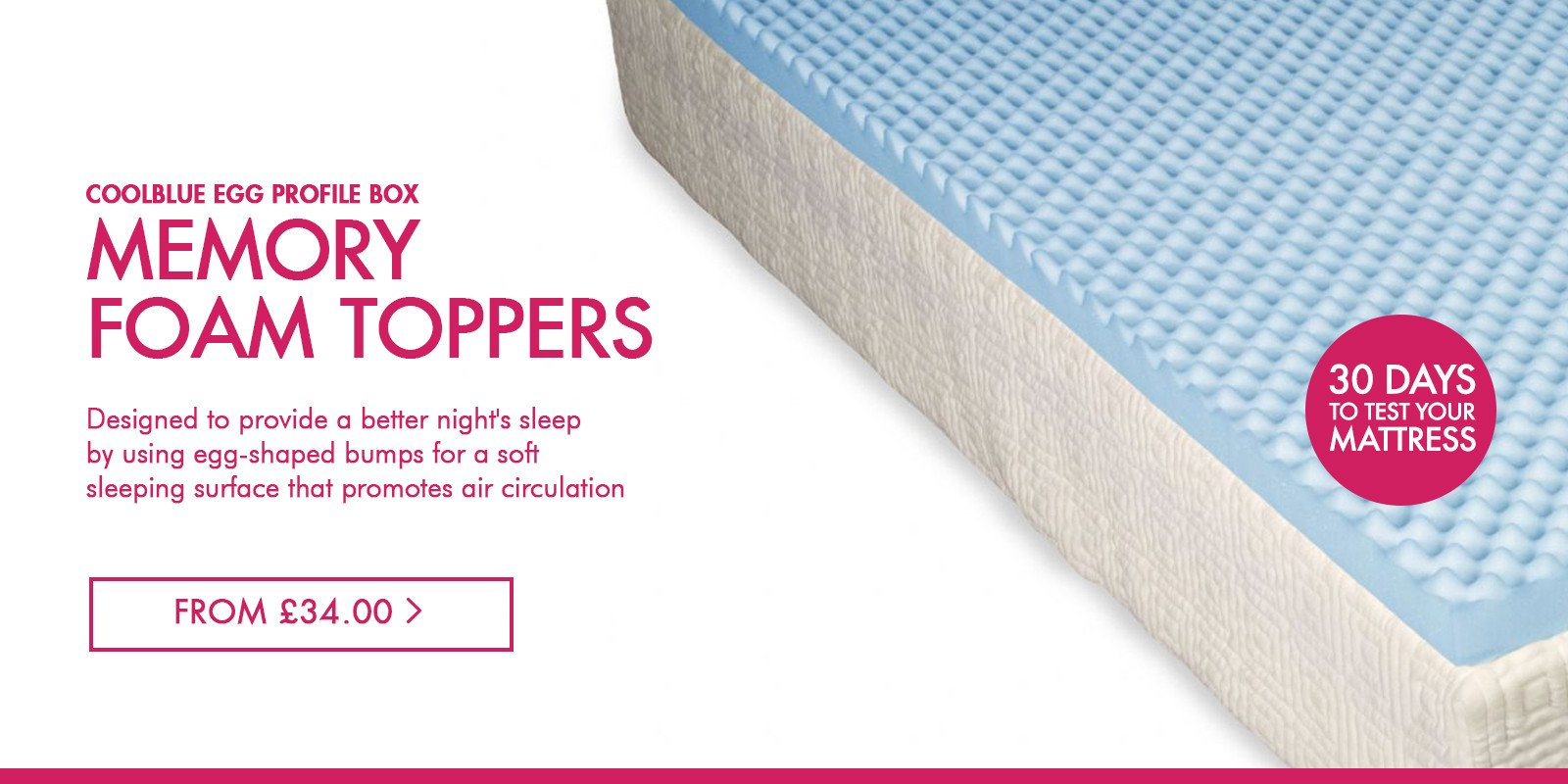 CoolBlue Mattress Toppers