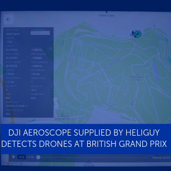 DJI AeroScope Supplied By Heliguy Detected Drones at British Grand Prix
