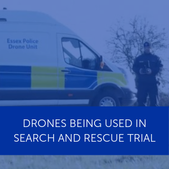 Drones being used in search and rescue trial
