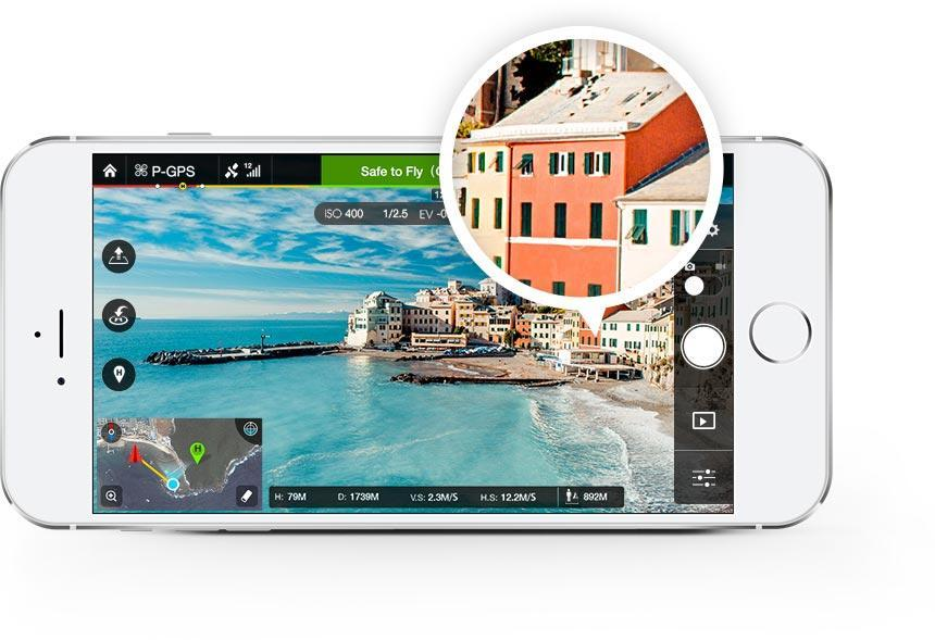 DJI GO app for Phantom 3, Inspire 1 and Matrice 100