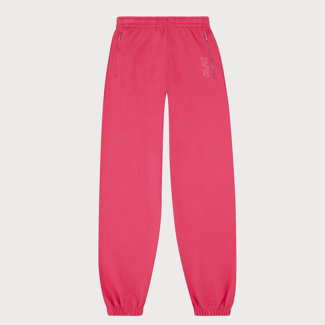 LES GIRLS LES BOYS ST10O Joggers in Pink