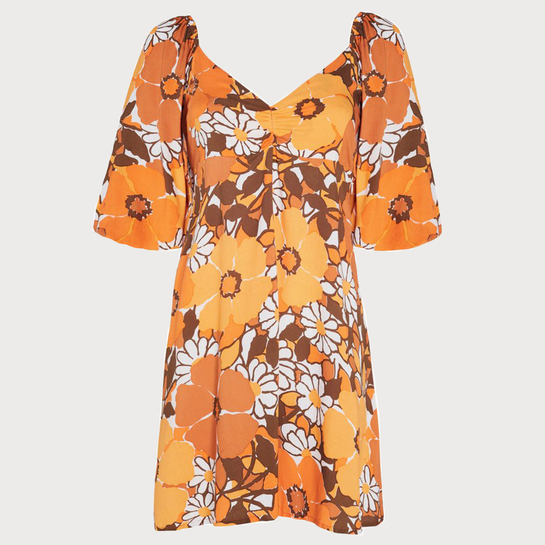 FAITHFULL THE BRAND MARTINE Dress in Orange