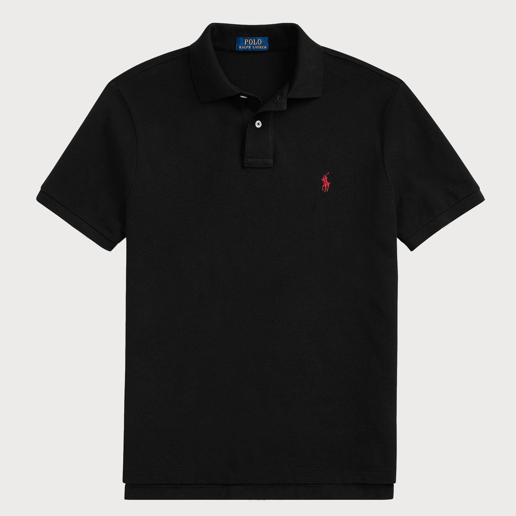 POLO RALPH LAUREN Short Sleeve Polo-BLACK