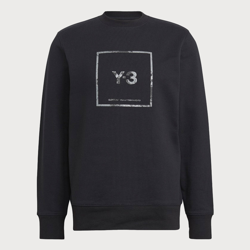 Y-3 GV6057 Square Logo Sweatshirt -BLACK