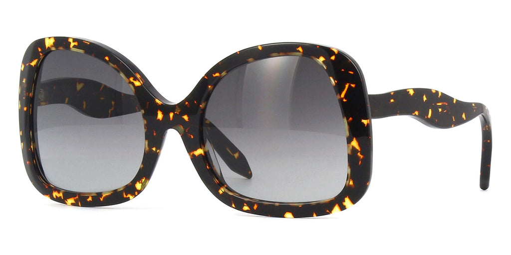 victoria beckham flared butterfly vbs126 c02 amber tortoise