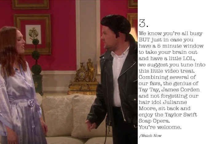 #WWL This Week Taylor Swifts Soap Opera with James Corden and Julianne Moore