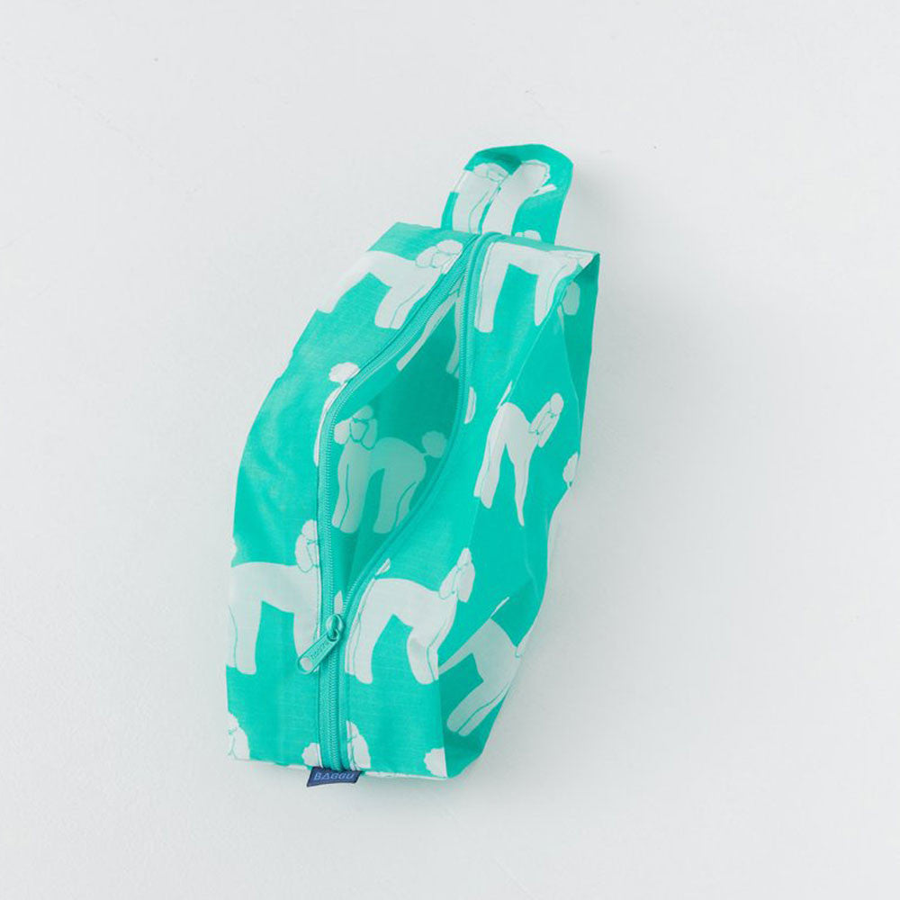 Baggu Aqua Poodle Small Zip Bag - RedRubyRougeBoutique