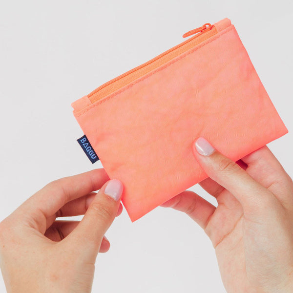 Baggu Electric Poppy Small Flat Zip Clutch - RedRubyRougeBoutique
