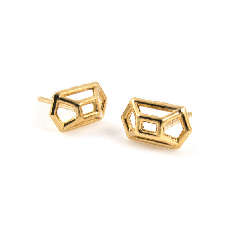 Baleen Geometric Stud Earrings - RedRubyRougeBoutique
