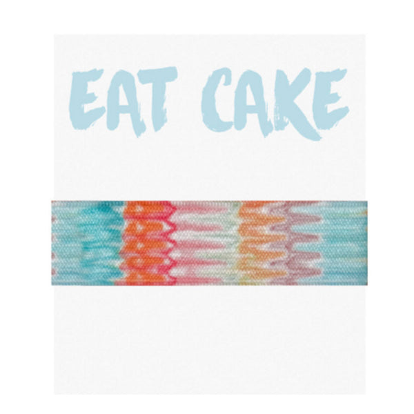 Emi Jay 'Eat Cake' Card with Desert Hair Tie - RedRubyRougeBoutique