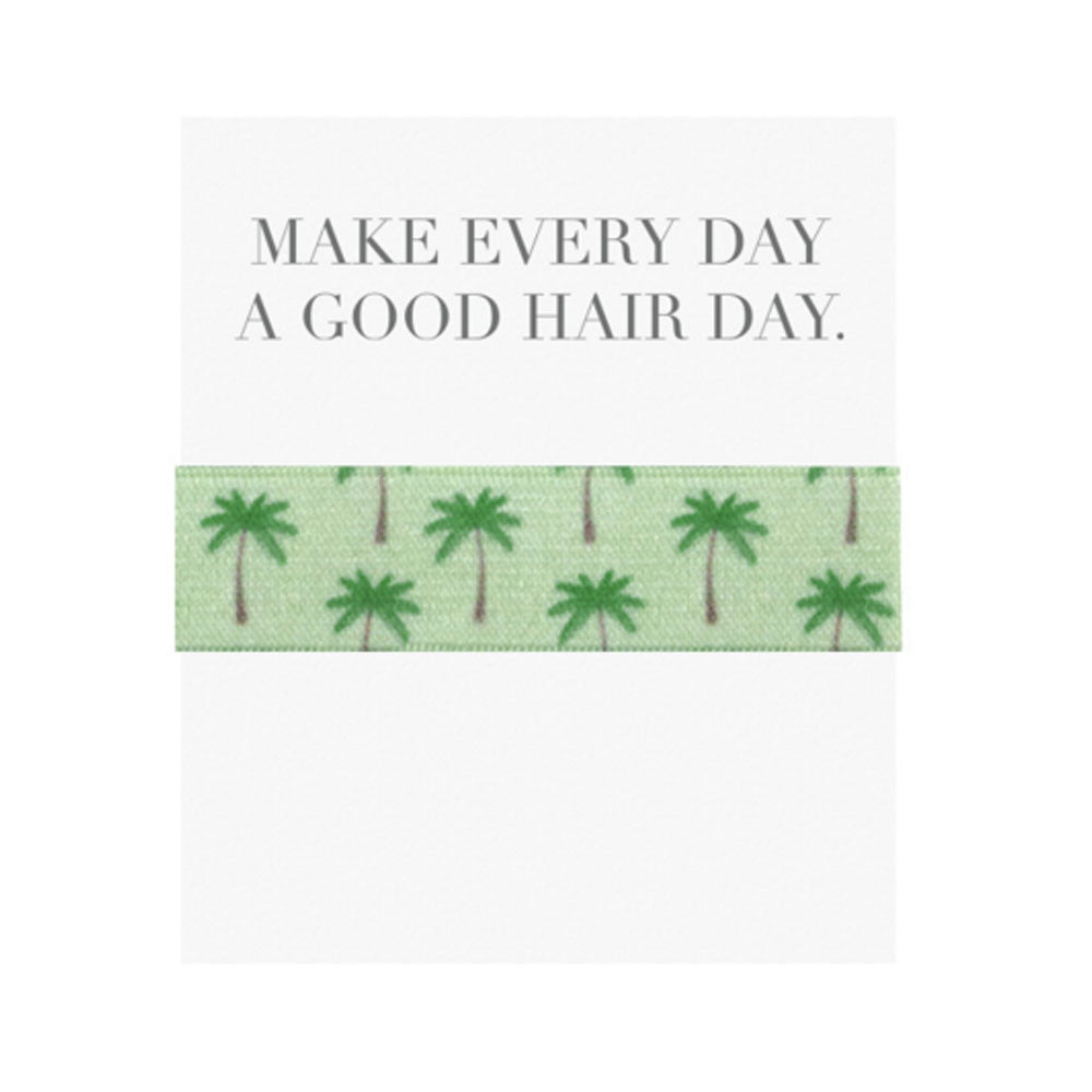 Emi Jay 'Make Every Day a Good Hair Day' Card with Palm Tree Hair Tie - RedRubyRougeBoutique