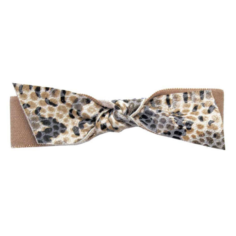 Emi Jay Python Leather Hair Bow - RedRubyRougeBoutique
