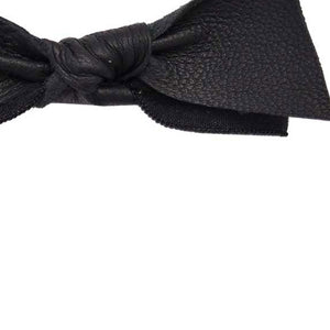 Emi Jay Black Leather Hair Bow - RedRubyRougeBoutique