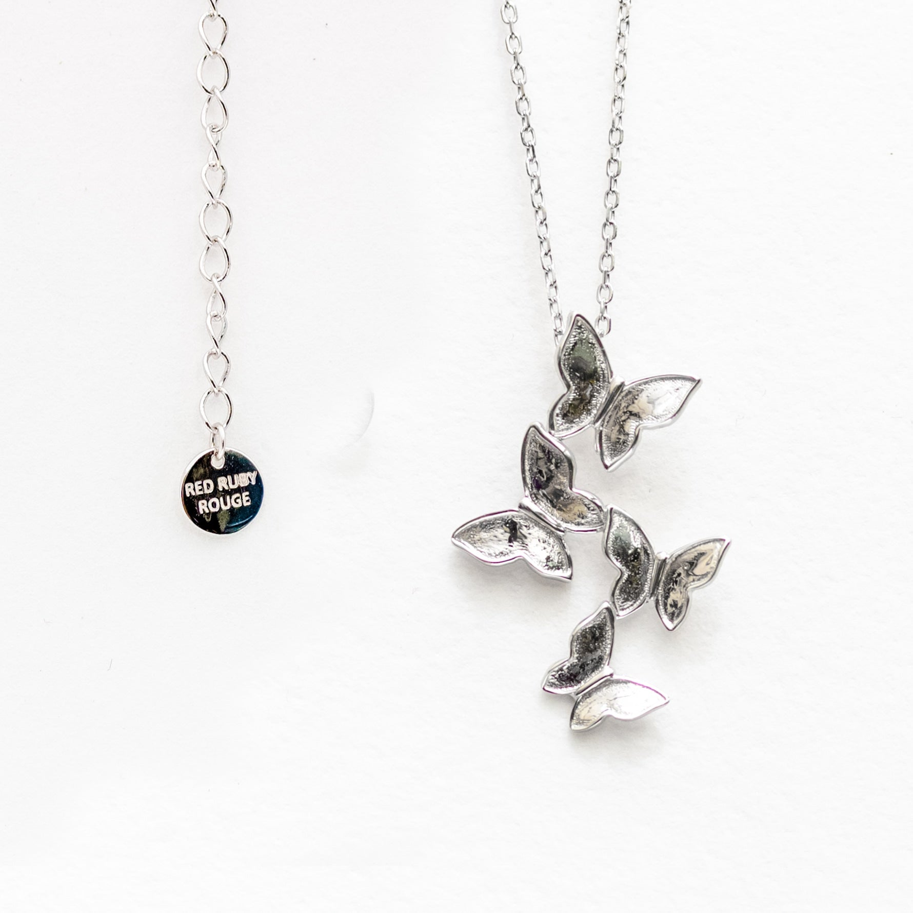 Butterfly Count Necklace Solid Sterling Silver and Gold Plated option
