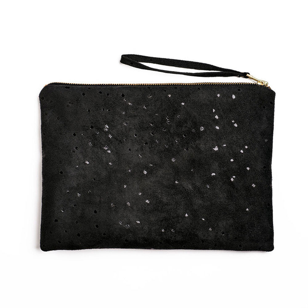 Lee Coren Flat Clutch in Confetti Black - RedRubyRougeBoutique