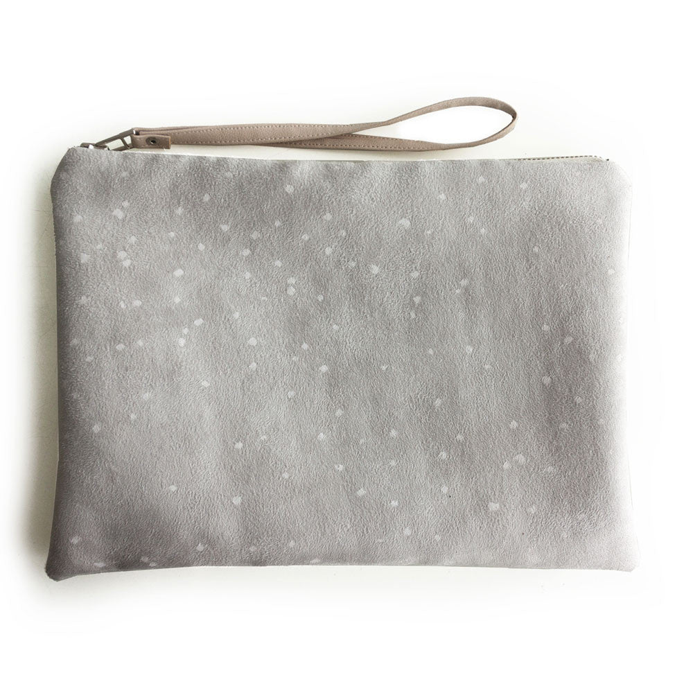 Lee Coren Flat Clutch in Snowy Confetti - RedRubyRougeBoutique