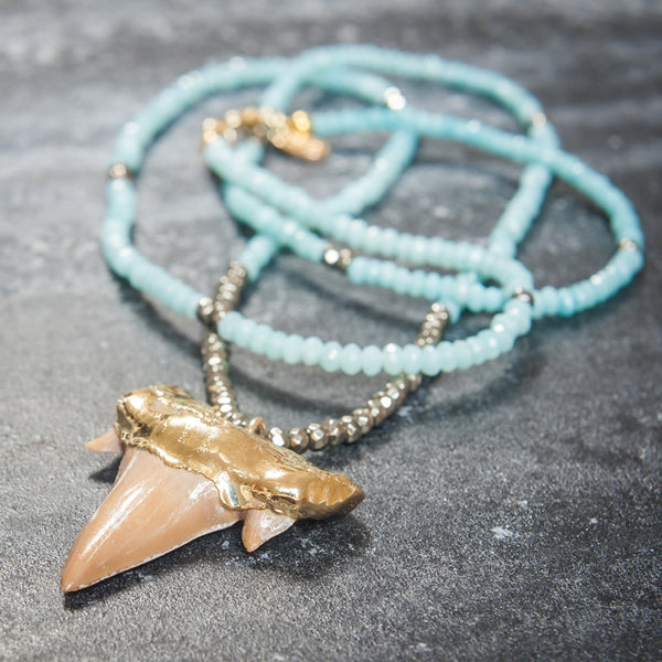 Elizabeth Stone Mystic Sea Necklace - RedRubyRougeBoutique
