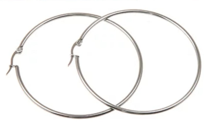 Sterling Silver Filled 5cm Large Hoop Earrings