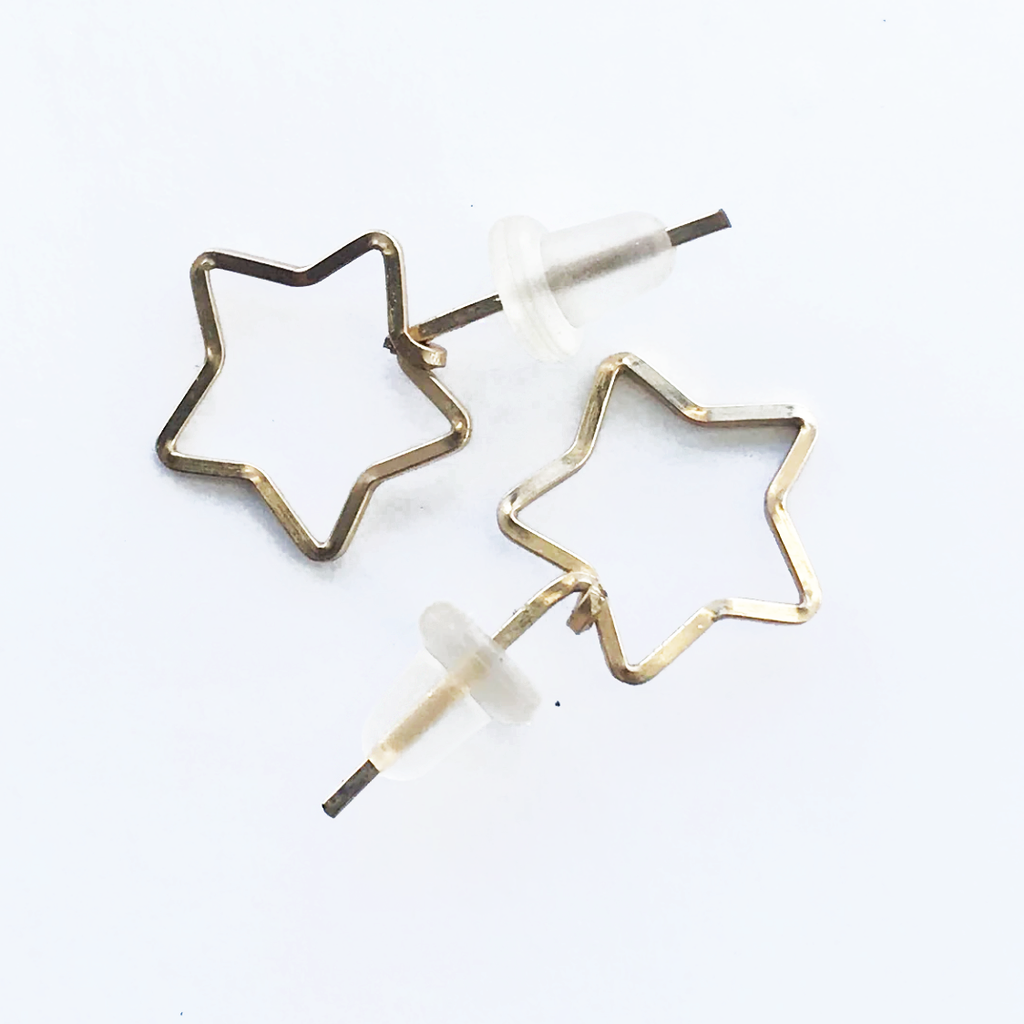By Boe Diamond Star Stud Earrings - RedRubyRougeBoutique