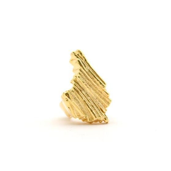 Mr.Kate Atlantis Ring Cast in high quality brass with 18k yellow gold finish - RedRubyRougeBoutique