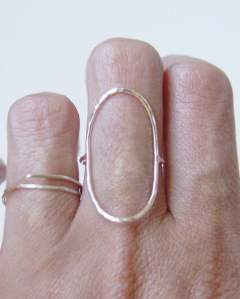 Friedasophie Saturn Open Oval Ring - RedRubyRougeBoutique