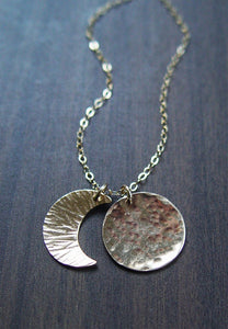 Friedasophie Moon Phase Gold Necklace - RedRubyRougeBoutique