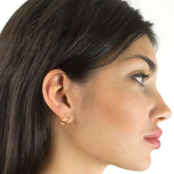 Baleen Two-fer Stud Earrings - RedRubyRougeBoutique