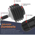 Adjustable Dumbbell 27.5/55/71.5 Pounds Fitness Dial Dumbbell