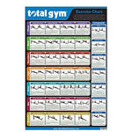 "Total Gym 24"" x 36"" Convenient Quick Reference Exercise Chart with 35 Workouts"