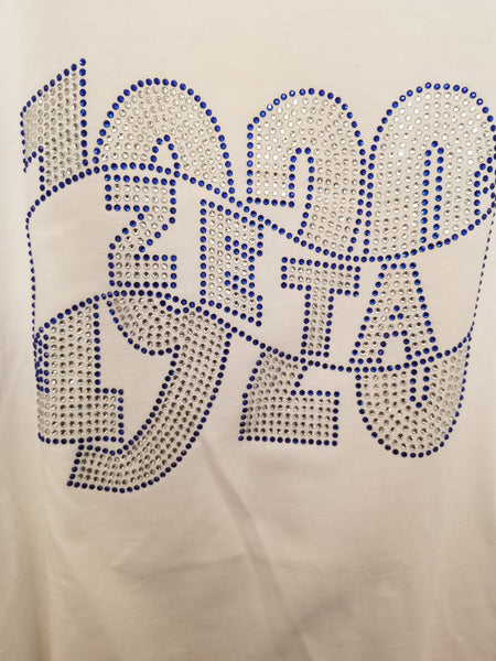 1920 White Bling T-Shirt