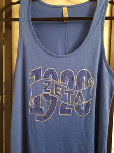 1920 Royal Blue Bling Tank
