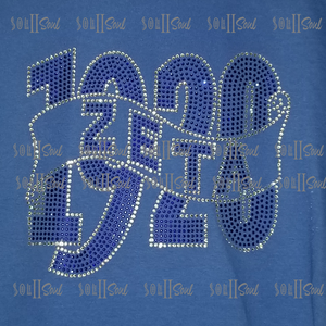 1920 Royal Blue Bling T-Shirt