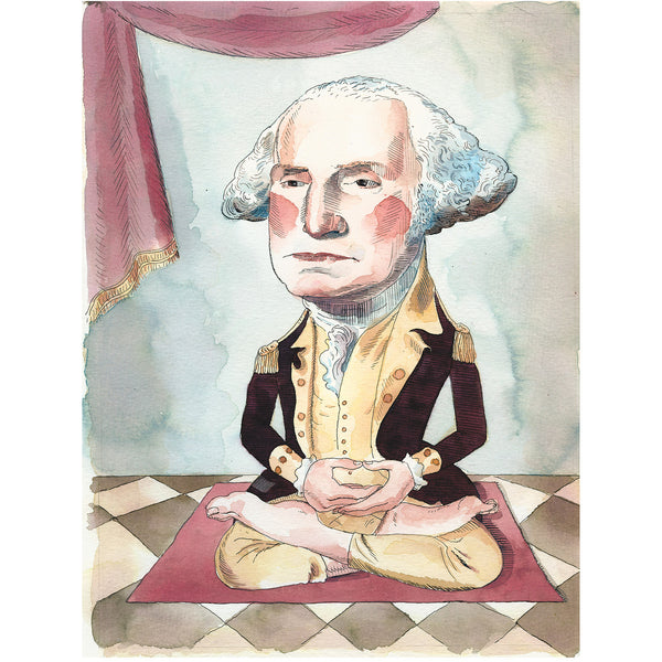 """George Washington Meditating"" print - Barry Blitt"