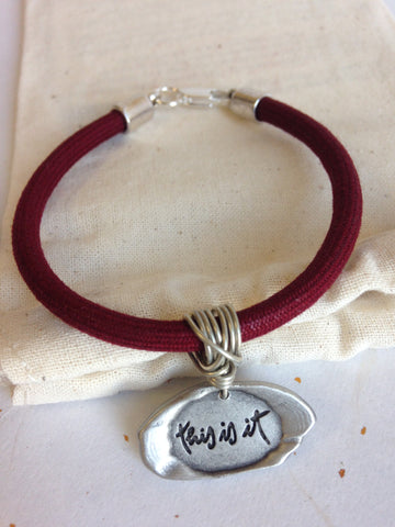 Pewter Seal Quote Bracelets