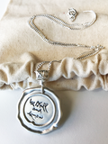 Silver Seal Thich Nhat Hanh Quote Necklaces on Silver Chain
