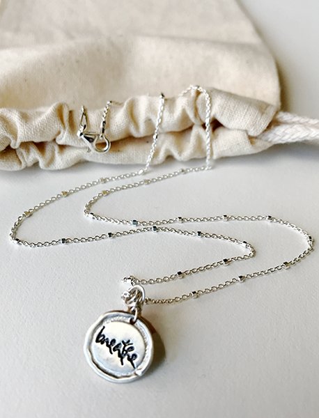 Mini Silver Thich Nhat Hanh Quote Necklaces