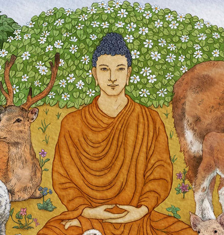 """Buddha With Animals"" – Lasha Mutual"