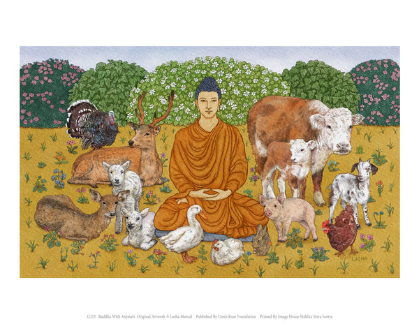 Buddha With Animals – Lasha Mutual