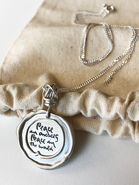 Silver Seal Quote Necklaces on Fine Chain