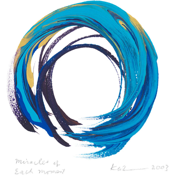 """Miracles of Each Moment"" print - Kazuaki Tanahashi"