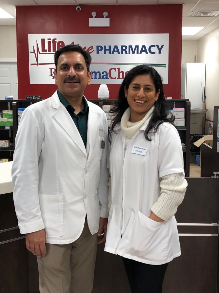 Banit and Pooja, the founders of Lifeline Natural