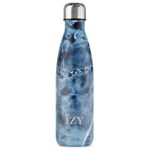 Izy Bottles Marble Blue 500 ml fles, Tasty & Gifts